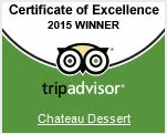 Chateau Dessert Tripadviser Certificate of Excellence 2015